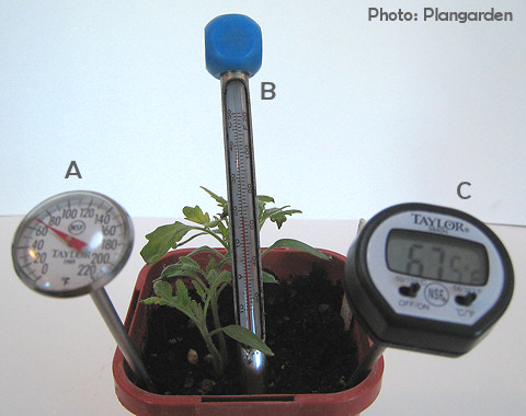 A soil thermometer helps you determine when to plant!
