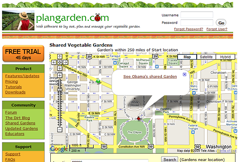 Check out Plangarden layout of proposed White House veggie garden!